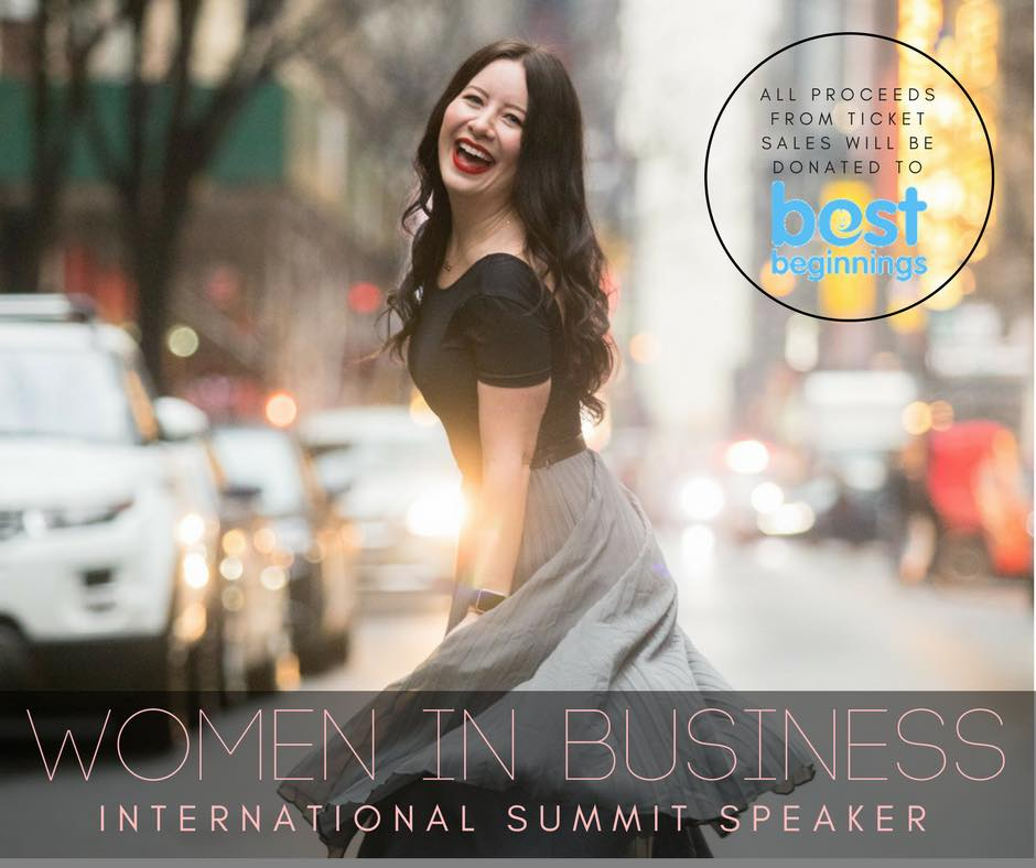 International Keynote Speaker at the Inaugural  Women In Business  Global Summit Topic: How to confidently present your personal brand through powerful storytelling techniques.