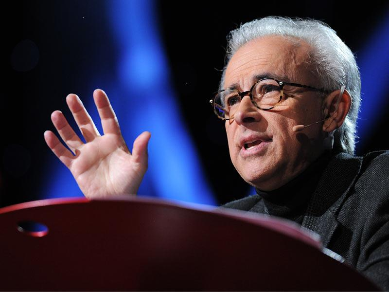 Antonio Damasio is seen here during his TEDtalk on  The Quest to Understand Consciousness   (Photo Credit: TED)