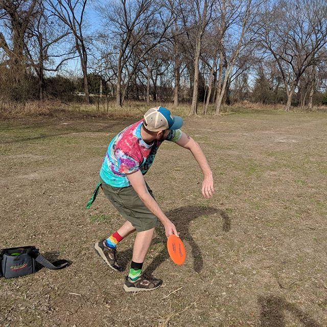 @mockingbird89 visited @thunder.awesome and Adam down in Texas. A much needed break from all our long hours working on Tale of Swords.  #relax #vacation #discgolf #gamedev #indiedev #stopcrunching