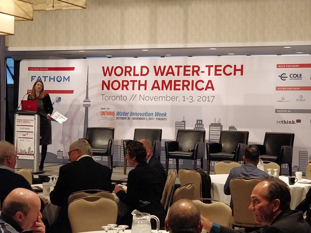 November 3, 2017 - Technology showcase at the World Water-Tech North America summit