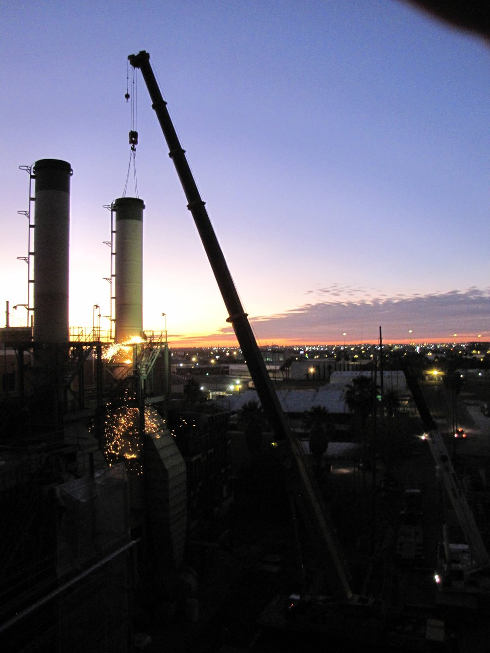 Laredo Power Plant demolition