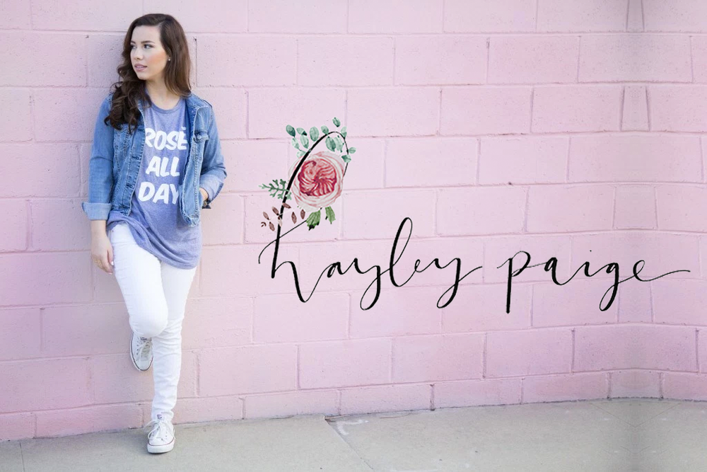 Hayley Paige Blogs logo designed by Reux Design Co. | modern, girly branding