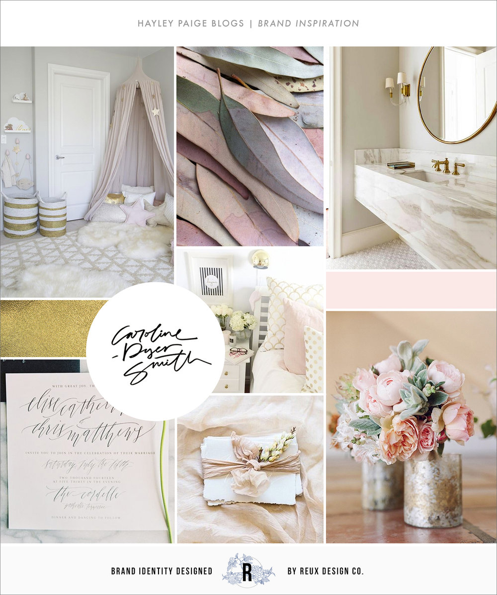 BLOG BRANDING MOODBOARD | REUX DESIGN CO.