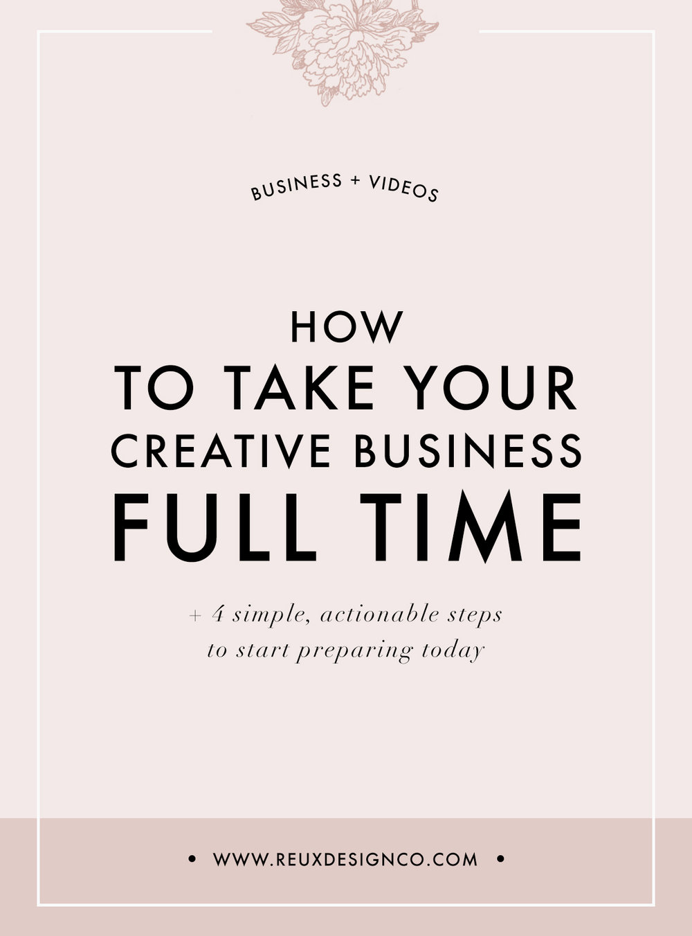 How to Prepare to Take Your Creative Business Full-time | Reux Design Co.