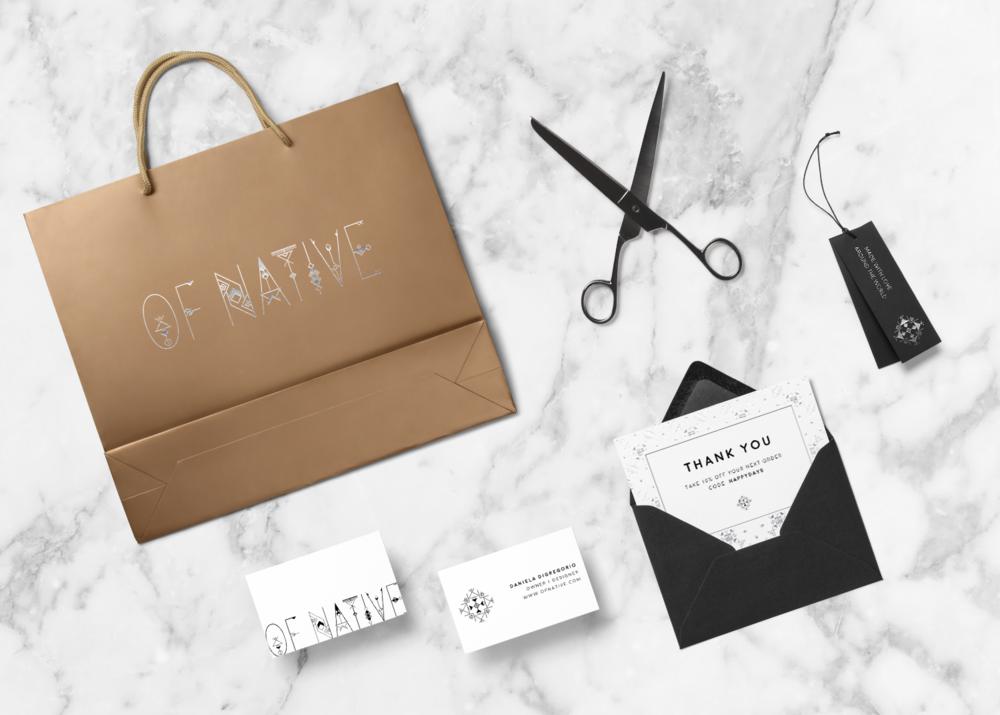 minimal bohemian packaging design | Reux Design Co.