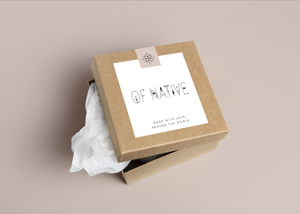 fashion jewelry line minimal design packaging | Reux Design Co.