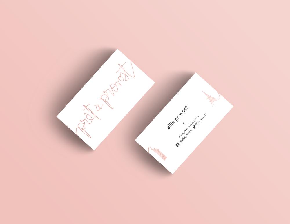 pret a provost business cards | fashion blogger business card design | Reux Design Co.