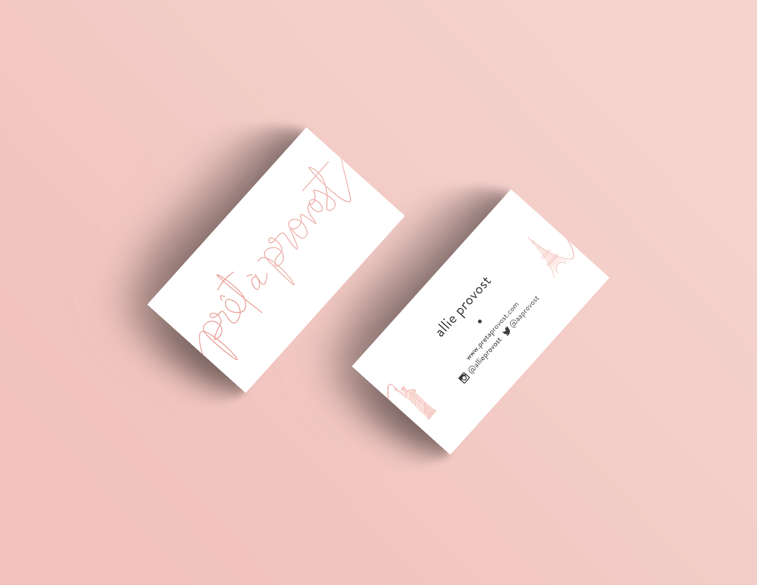 New in the portfolio prt provost reux design co pret a provost business cards fashion blogger business card design reux design co colourmoves