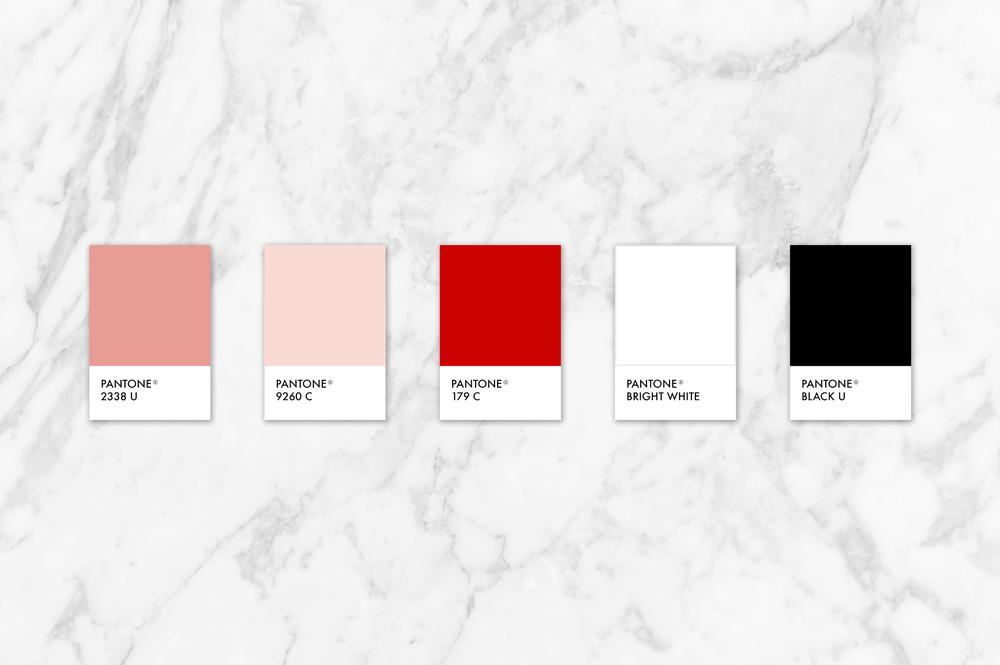 light pink, red, white and black color scheme | color story | color palette for blogger | Reux Design Co.
