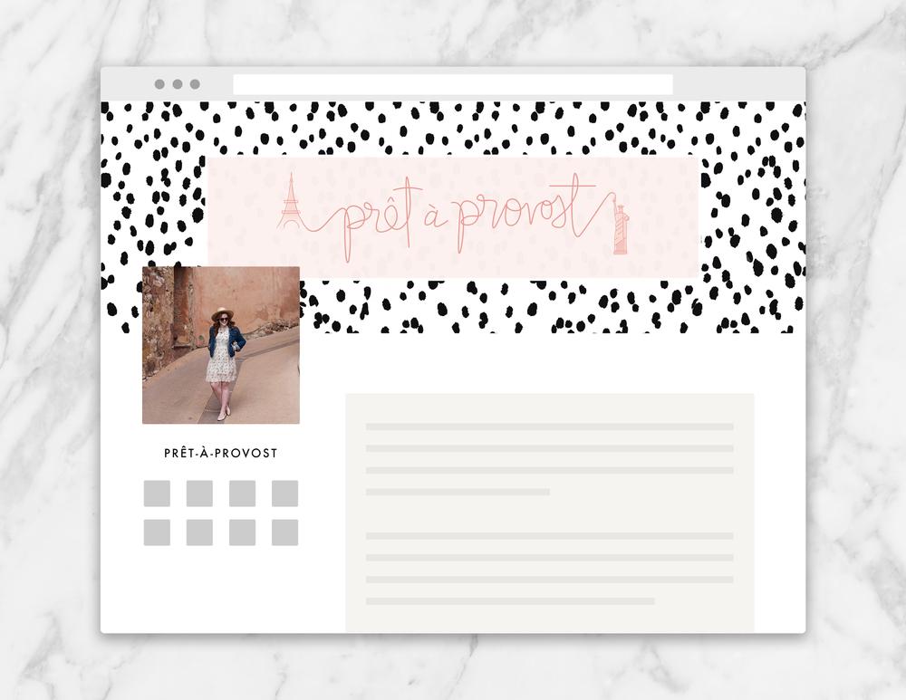 social media header design for fashion and style blogger | Reux Design Co.