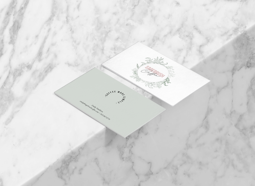 coffee shop minimal chic branding design + business cards | Reux Design Co.