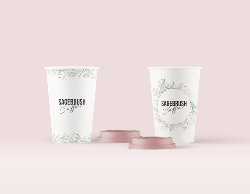 coffee shop paper cup design + packaging design for coffee house | Reux Design Co.
