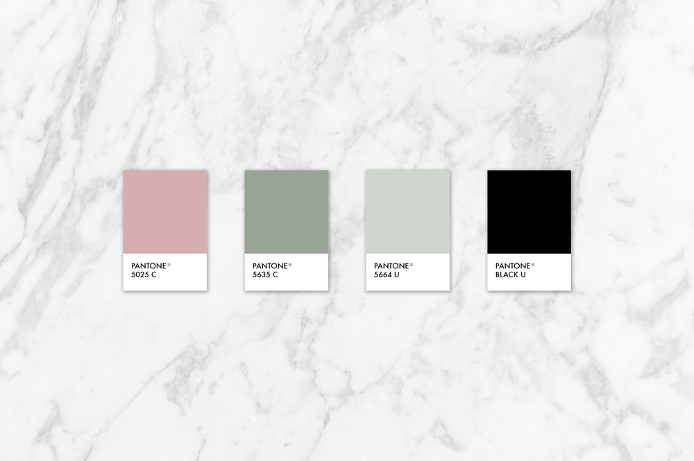 pink, green and neutral color palette | Reux Design co.