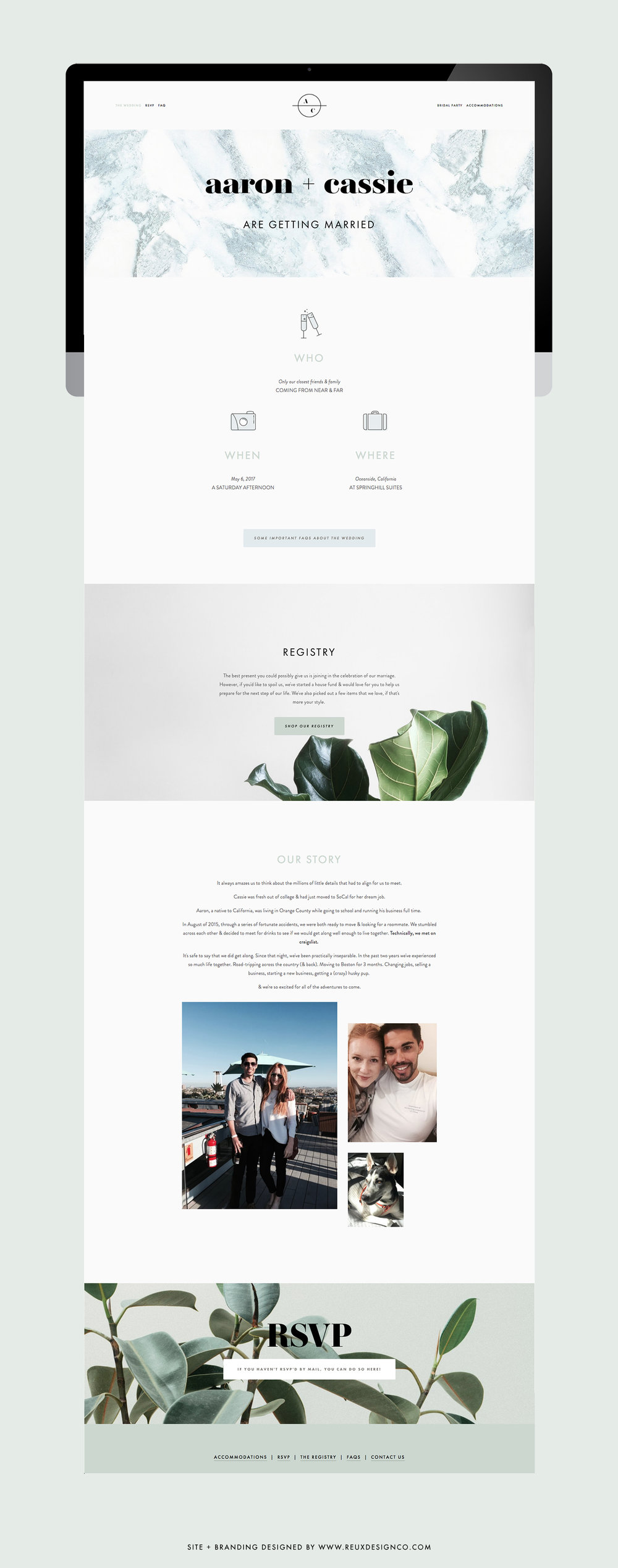 Wedding Website on Squarespace | simple, fast, beautiful | Reux Design Co.