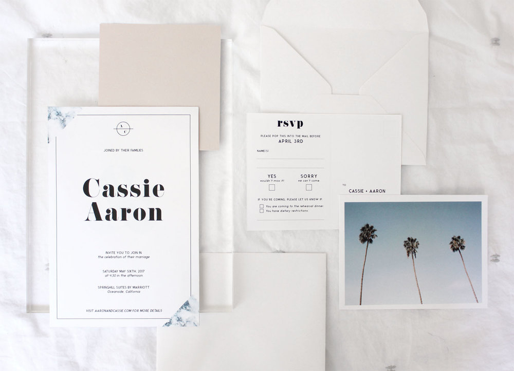 beachy california wedding stationary | Reux Design Co.