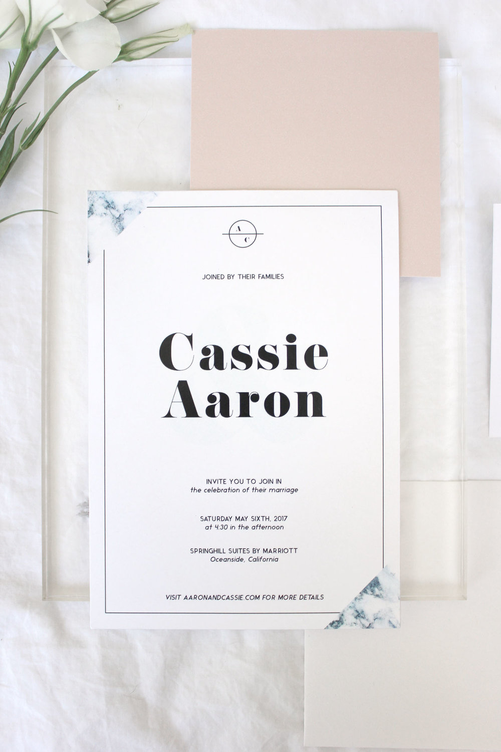 beachy and minimal modern wedding invitation | Reux Design Co.