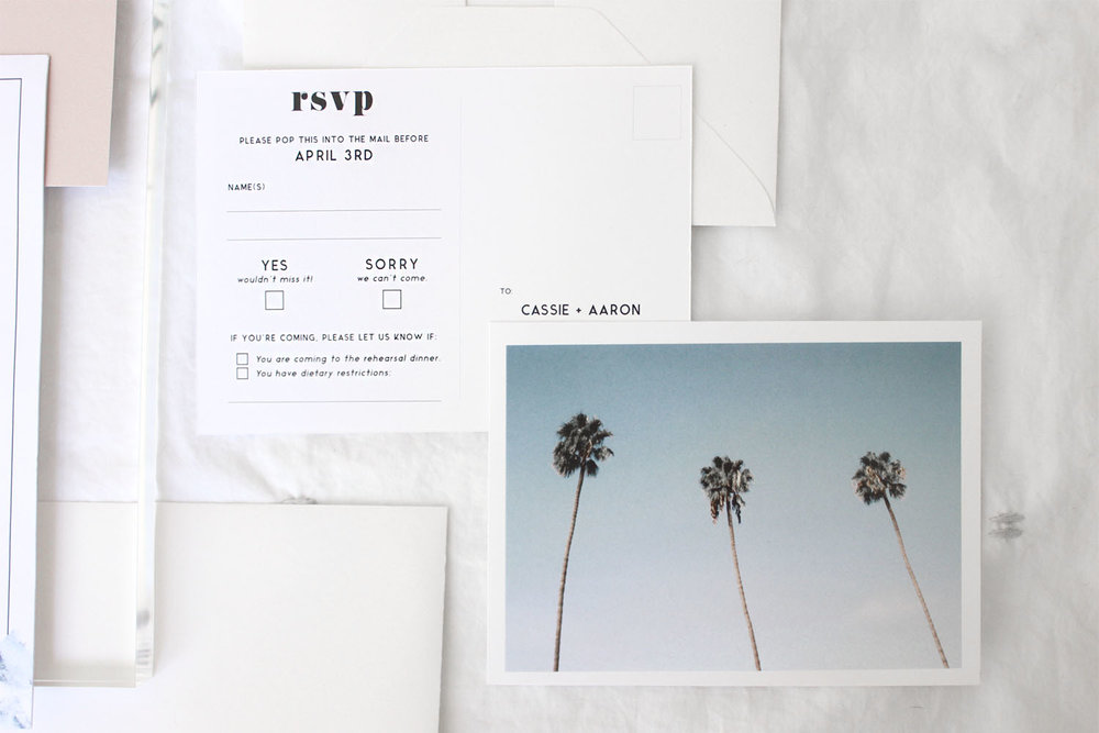 california diy boho wedding stationary | Reux Design Co.