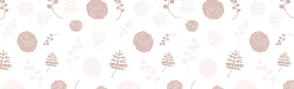 illustrated floral neutral pattern for wedding florist branding | Reux Design Co.
