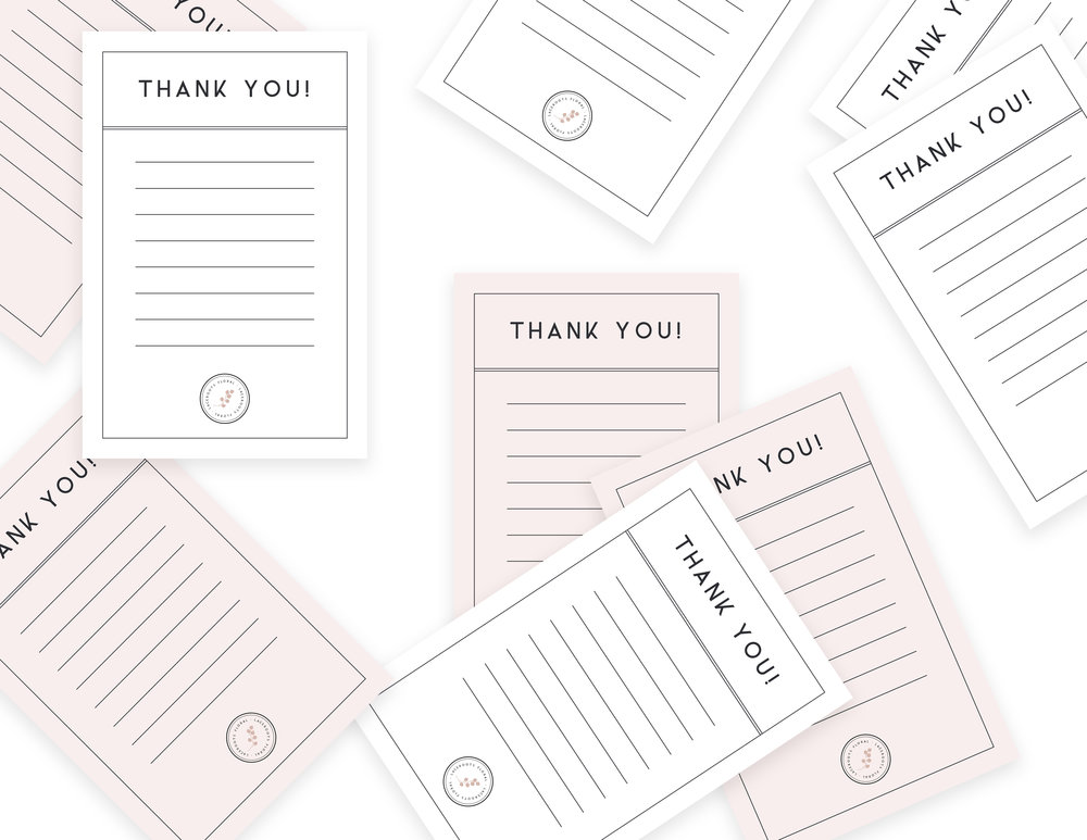 thank you cards and stationery for wedding florist | Reux Design Co.