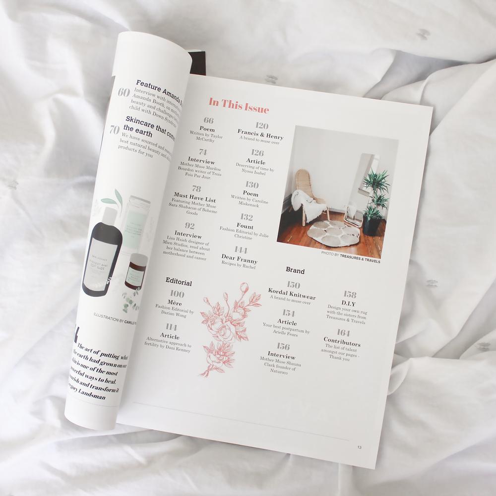 floral illustration for mother muse magazine | Reux Design Co.