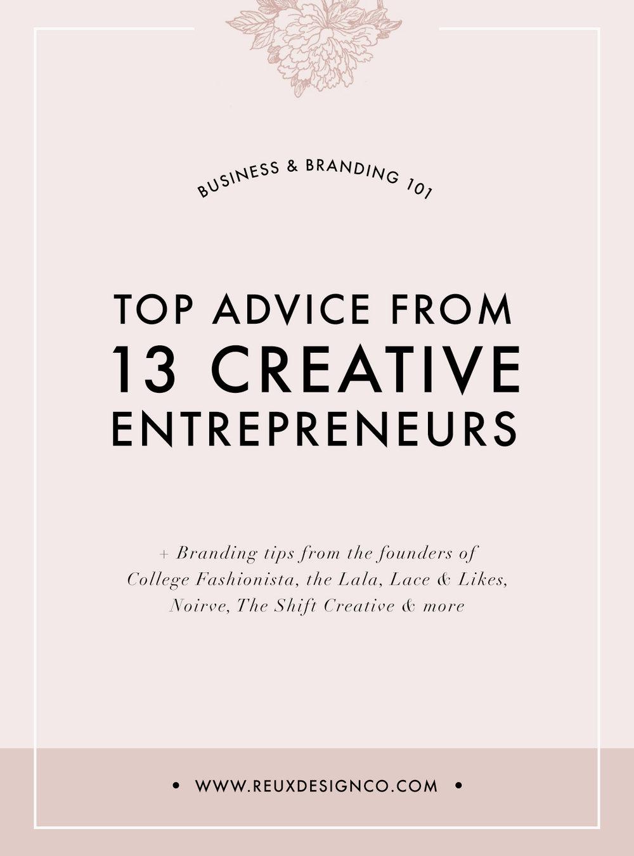branding & business tips from creative entrepreneurs | Reux Design Co.