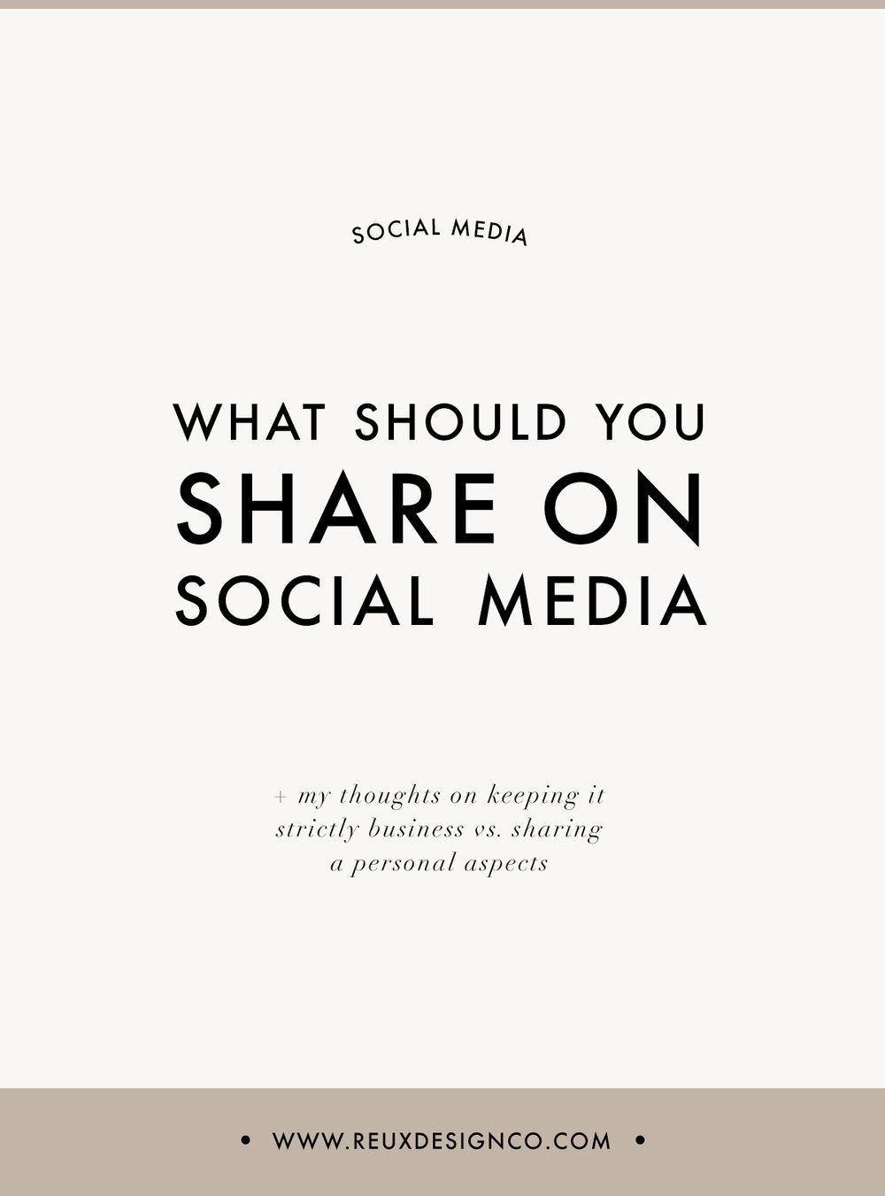 how to share content on social media | Reux Design Co.