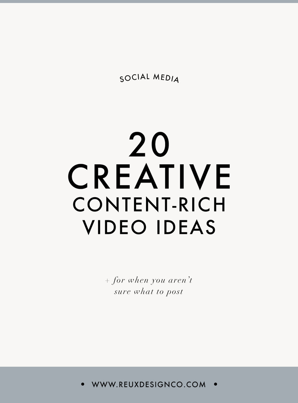 20 Creative, content rich, no fluff video ideas for your business | Reux Design Co.