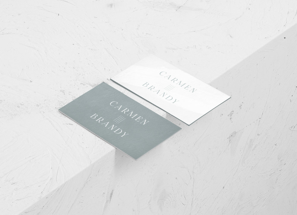 minimal bohemian business card design | Reux Design Co.