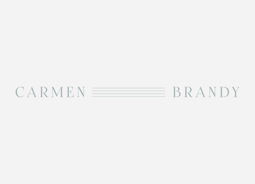 Brand design - main logo for Carmen Brandy, musician | Reux Design Co.