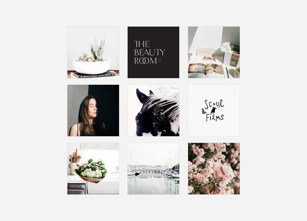 neutral, calming, bohemian, minimal moodboard | Reux Design Co.