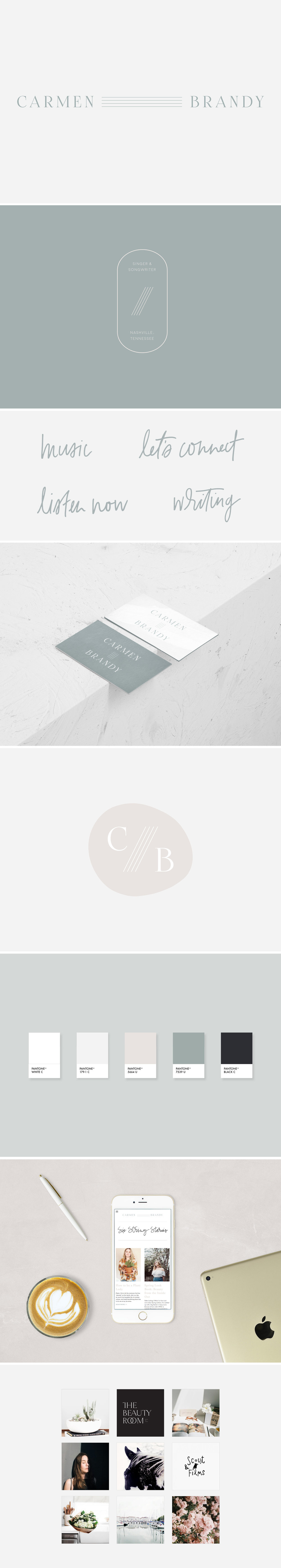 Carmen Brandy | youthful, bohemian, raw, authentic branding | Reux Design Co.