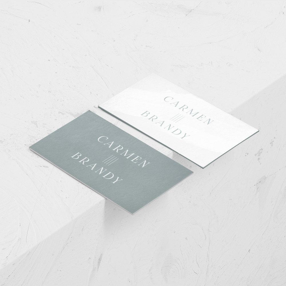 Carmen Brandy Identity | designed by Reux Design Co.