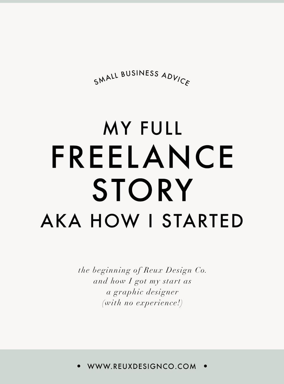 How I got started as a freelance graphic designer | Reux Design Co.