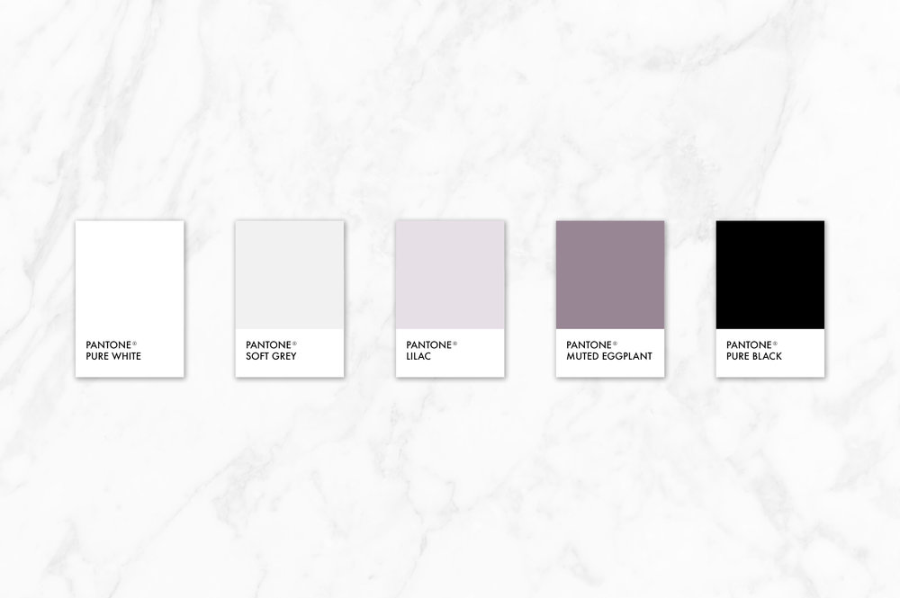 lilac, purple, clean modern color palette for branding | Reux Design Co.