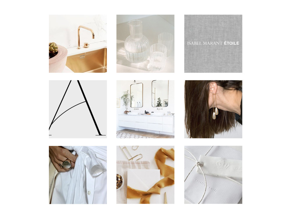 Occasions Box Brand Design: clean, minimal, curated moodboard | Reux Design Co. | Boutique Branding Studio for Holistic and Conscious Small Businesses