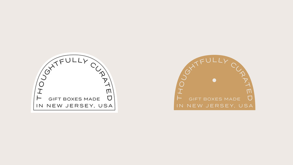 Occasions Box Brand Design: Submarks and Stickers | Reux Design Co. | Boutique Branding Studio for Holistic and Conscious Small Businesses