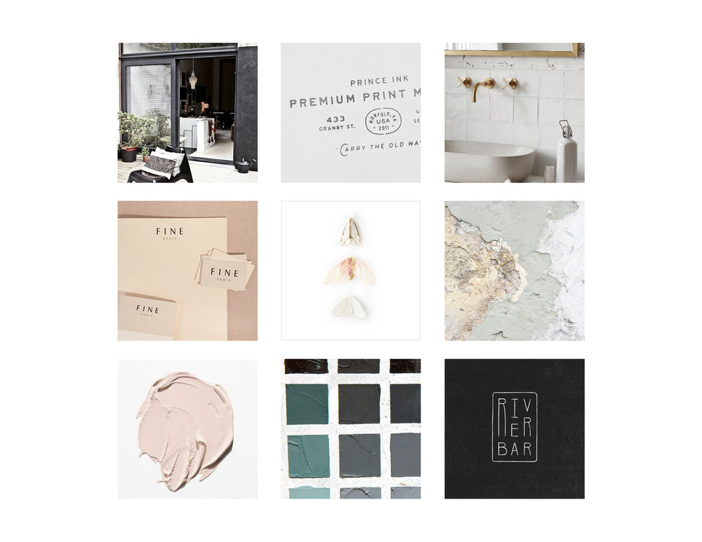 RATE Hotel Group Brand Design: Moodboard and Inspo | Reux Design Co. | Boutique Branding Studio for Holistic and Conscious Small Businesses