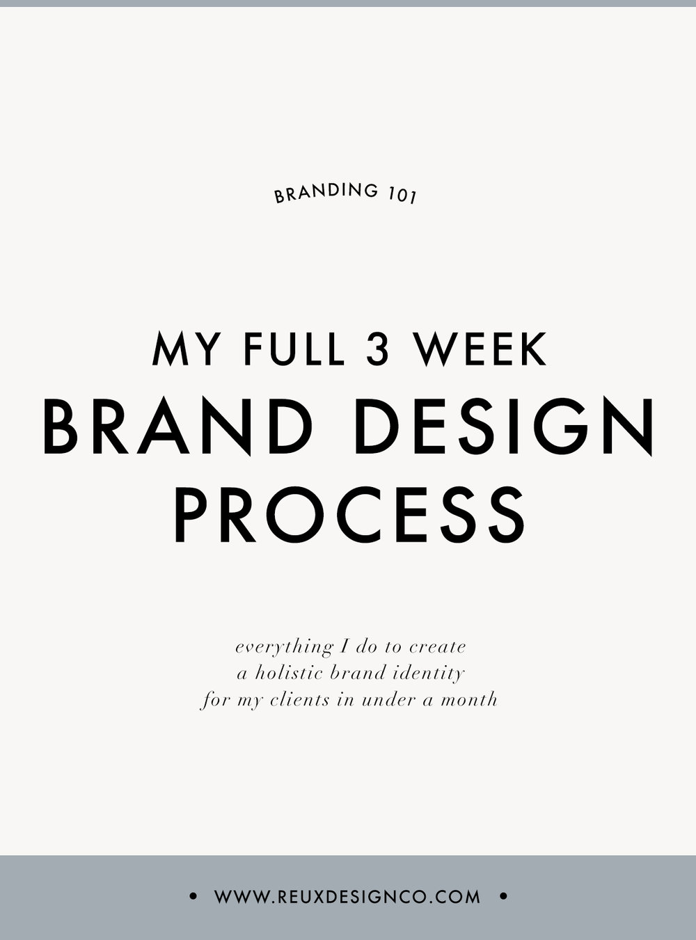 My Full 3 Week Brand Design Process / How I Design a Conscious Brand in 3 Weeks | Reux Design Co.