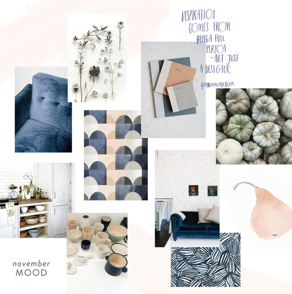 November Moodboard and Color Inspiration | Reux Design Co.