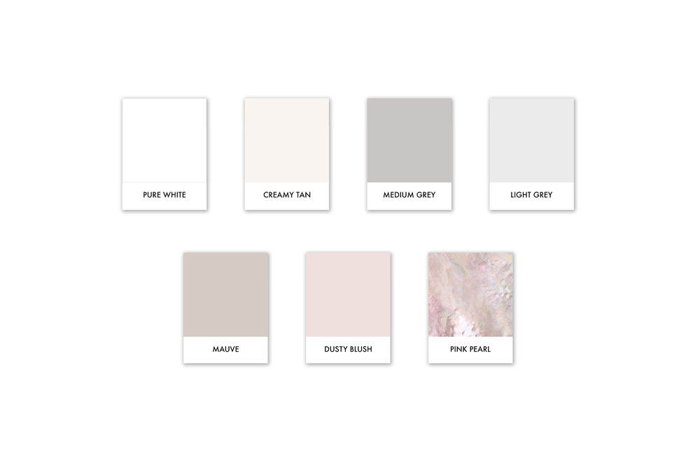 Modern, Feminine, Pretty pink and neutral color palette | Reux Design Co