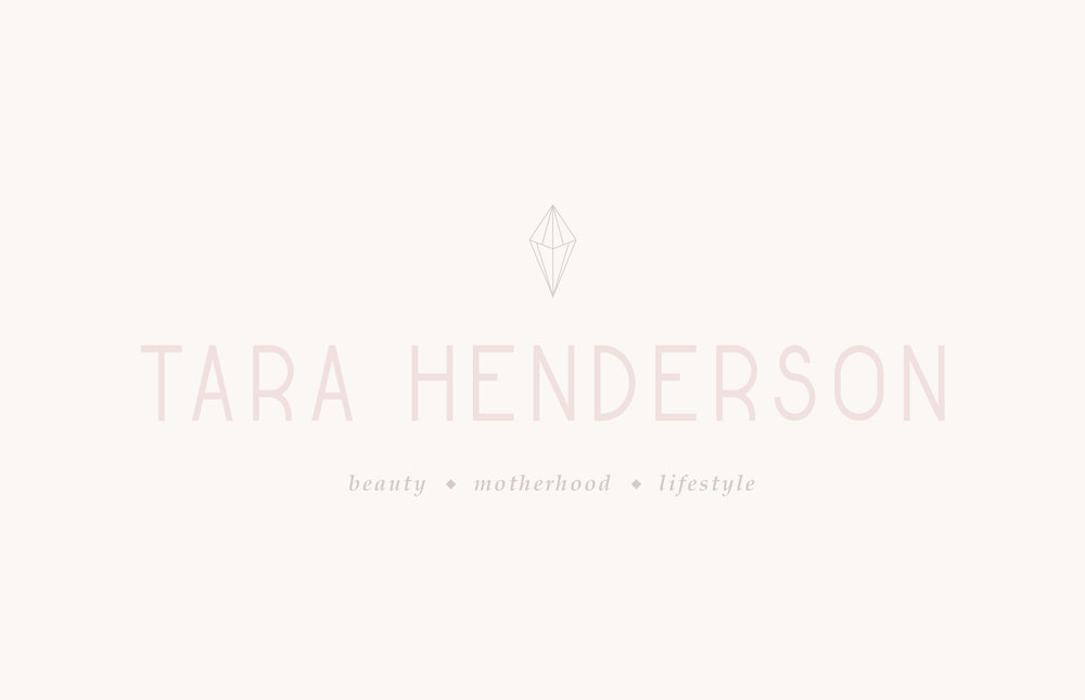 Tara Henderson logo design - youtube motherhood and lifestyle brand design | Reux Design Co