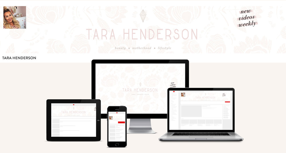 youtube channel brand design for tara henderson | motherhood and lifestyle content brand design | Reux Design Co