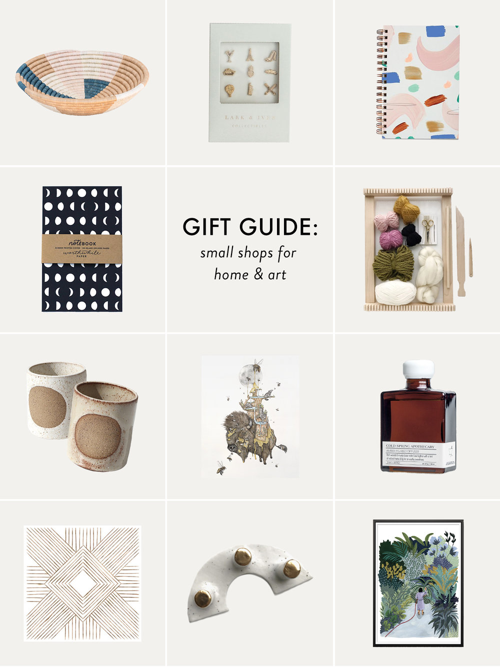 Small Business Saturday Gift Guide | Little Shops for Home Decor, Art and Creativity | Reux Design Co.