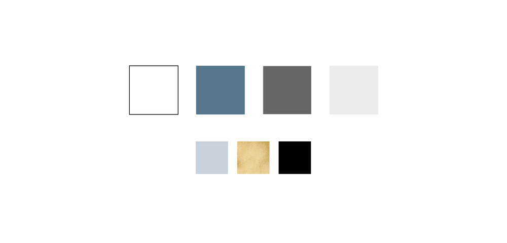 Neutral blue color palette, brand design color palette, colors for Joji Goods | Holistic brand design by Reux Design Co.