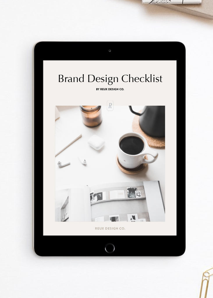 Brand Design Checklist | Everything you need for a thriving, sustainable brand | freebie download by Reux Design Co.