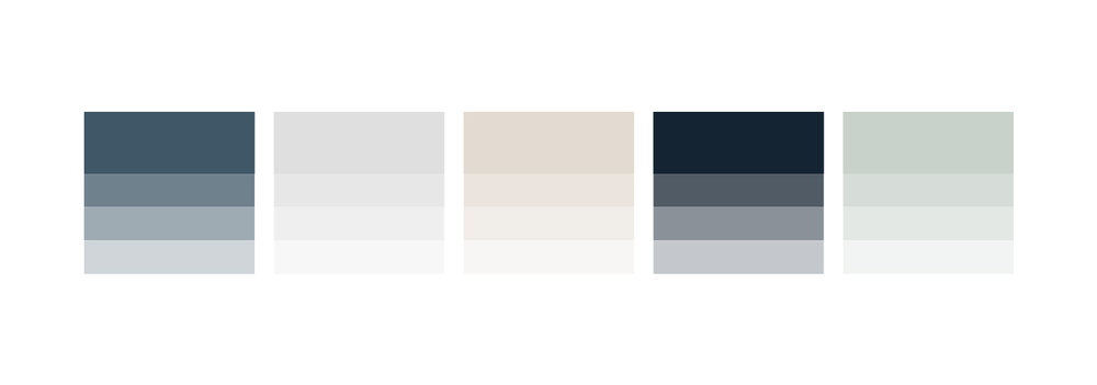 Blue and sea foam color palette | Timeless, Classic, Neutral brand design for interior designer | by Reux Design Co.