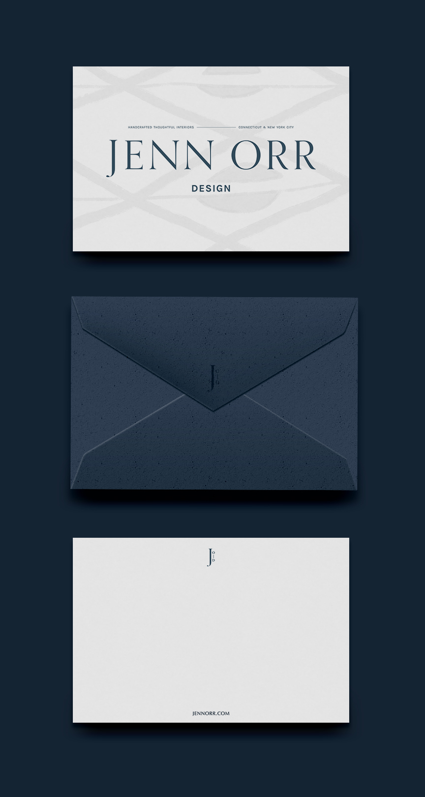 stationery and notecard designs | Timeless, Classic, Neutral brand design for interior designer | by Reux Design Co.