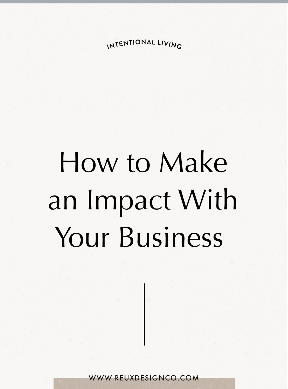When you feel like you aren't making an impact with your creative or sustainable business, remember this | | Reux Design Co.