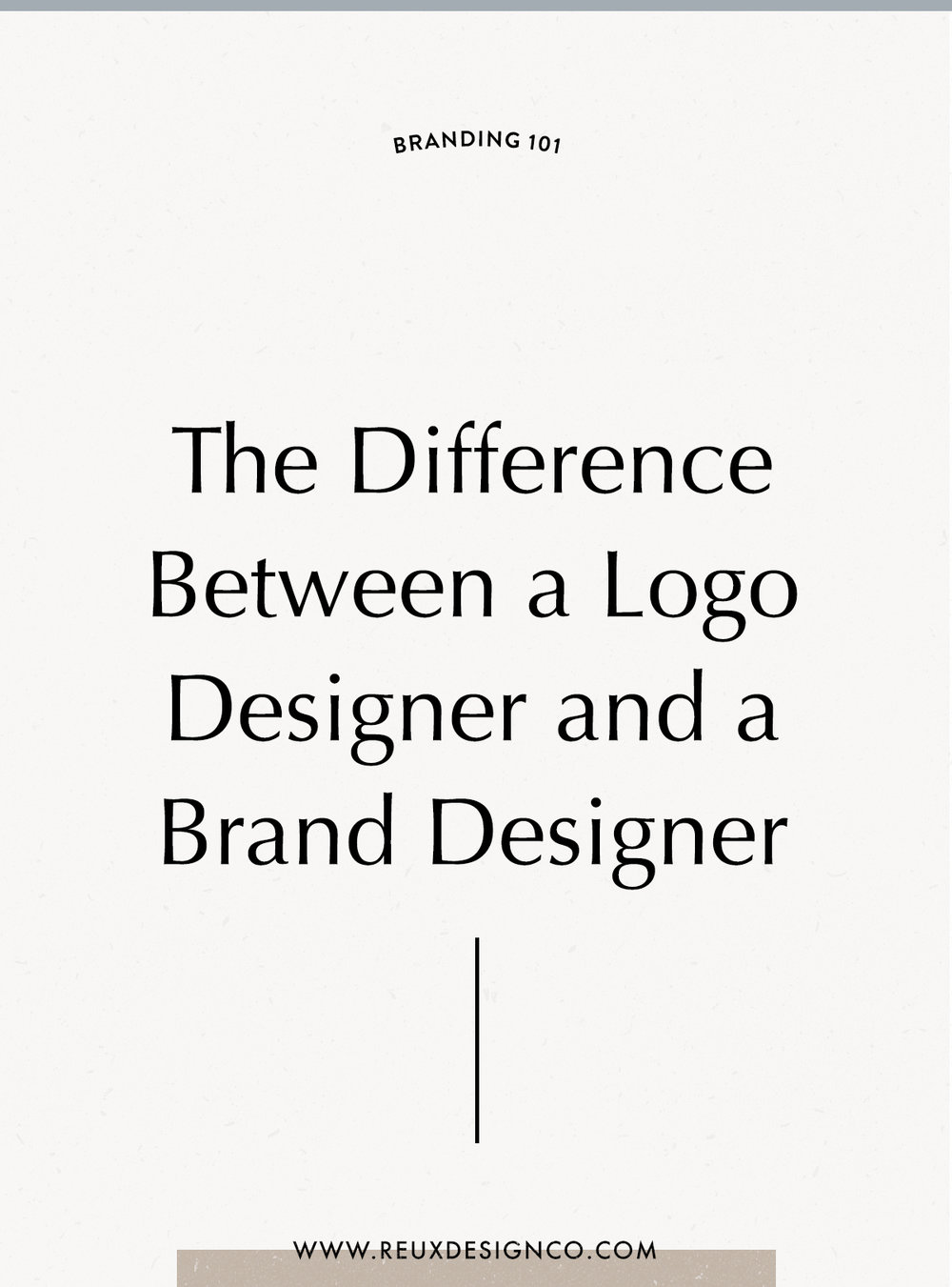 What you need to know about the differences between a logo designer and a brand designer + how to choose a designer to work with! | Reux Design Co.