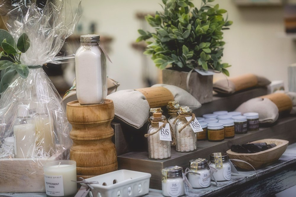 Bath salts, lavender pillows and a gorgeously scented candle are all great treats!